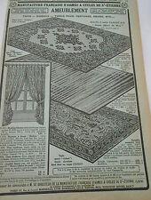 Pub Ancienne 1935 Articles pour l'ameublement Rideaux Tissus siège etc