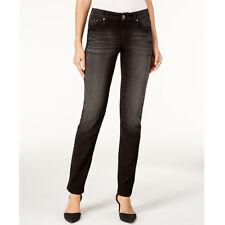 Style & Co. Women's Black Petite Studded Straight-leg Jeans, Black Jewel, 12P