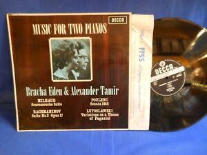 BRACHA EDEN ALEXANDER TAMIR 2 PIANOS DECCA SXL 6158 ORIG UK EXC+