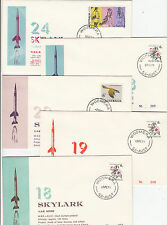Stamps Skylark rocket tests Woomera South Australia group of 5 souvenir covers