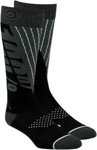 100% 2020 Adult Torque- Thick To The Knee Motorcycle Socks Black/Gray  S/M