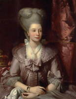 Benjamin West Queen Charlotte Poster Reproduction Paintings Giclee Canvas Print