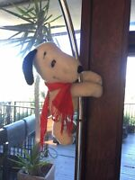 1968 Cling on Peanuts SNOOPY Plush Toy Stuffed Animal Doll vintage
