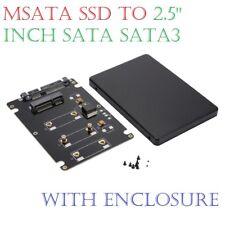 """Mini PCI-E mSATA SSD to 2.5"""" SATA Hard Disk Enclosure Case Converter Adapter"""