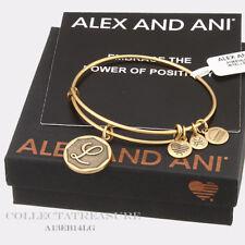 Authentic Alex and Ani Initial L Rafaelian Gold Charm Bangle