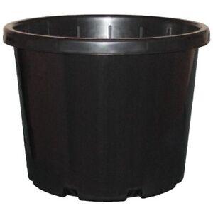 10 x 330mm BLACK ROUND FLOWER BUCKET w HOLES 18-LITRE HYDROPONIC POT 18L PLANT