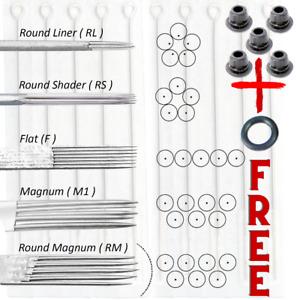 Tattoo Needles Premium (5PCS)  RL RS RM M1 M2 F o ring and 5 Grommets Kit UK