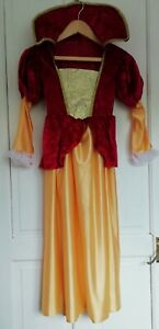 """Medieval style princess costume for child in Red & gold 30"""" chest"""