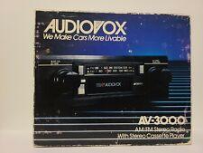 Vintage NOS Audiovox AV-3000 AM/FM Car Stereo Cassette Player