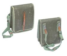 1960s EX-ARMY SHOULDER BAG CANVAS & LEATHER GREEN WARSAW PACT CROSS BODY VINTAGE