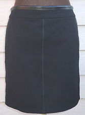 NEW $795 Gucci Black Skirt 44 US 8 Stretch Fabric Leather