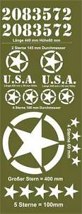 US Army Sterne Aufkleber Set 20-Teilig Willys Jeep