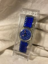 """Vintage 1992 Swatch Watch Quartz """"Days of the Week on Face"""" NOS"""
