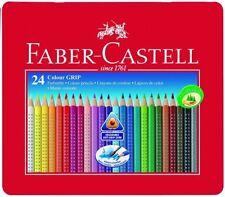 Faber-Castell Tin of 24 Colour GRIP 2001 pencils Quality Colouring Pencils