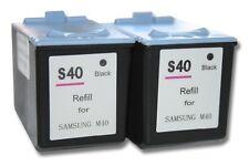 2x XXL CARTUCHO TINTA negro para SAMSUNG SF-340, SF-345, SF-345TP, SF-360