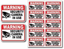 12Pk SECURITY CAM IN USE Surveillance Burglar Alarm Decal Warning Vinyl Stickers