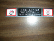 CONOR McGREGOR (UFC) NAMEPLATE FOR SIGNED TRUNKS DISPLAY/PHOTO/PLAQUE