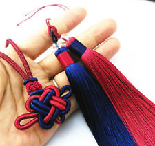 1 pair Chinese knot two-color Tassels Hanging ornament Clothing Accessorie 13cm