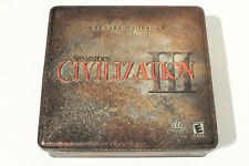 Sid Meier's Civilization III: Limited Edition (PC, 2001) in Metal Tin - Tested