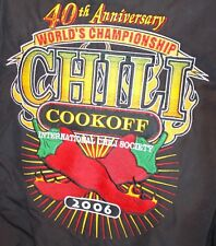International CHILI Society COOK OFF Port Authority 2xl XXL EMBROIDERED Jacket