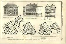 1900 Southwark Public Library Old Kent Road Second Design Elevations
