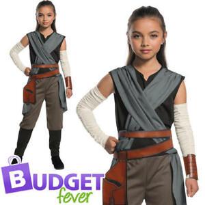 Rey Girls Star Wars Fancy Dress Last Jedi Kids Childs Disney Halloween Costume