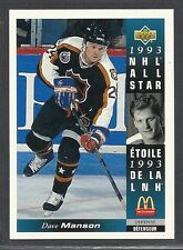 1993-94 Upper Deck McDonald's NHL All Stars - #9 - Dave Manson - Oilers