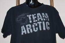 VINTAGE~Men's~BLACK~Team~ARCTIC CAT~T-Shirt~LARGE?~DISTRESSED