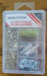 SONTAX 101 PIECE ASSORTED PICTURE HANGING KIT *NEW* unopened sealed in plastic