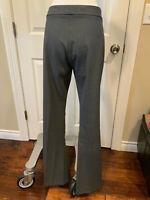 Theory Gray Wide Leg Flare Wool Blend Dress Pants, Size 10 (US)
