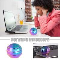 Colorful Desktop Decompression Rotating Spherical Gyroscope Kinetic Desk W2K7