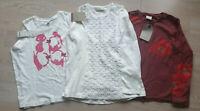 Mädchen ZARA ESPRIT T-Shirt Set Langarmshirt  Gr. 128 NEU