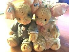 "Enesco Tlp This Little Piggy ""To Hog And To Hold"" Wedding Gift Reg # 512Tlp287"