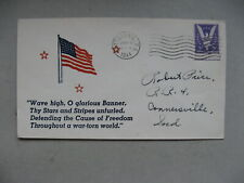 USA, patriotic cover 1944, Stars and Stripes Glorious Banner