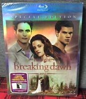 Twilight Saga Breaking Dawn Part 1 Special Edition Blu Ray New + Foto + Invito