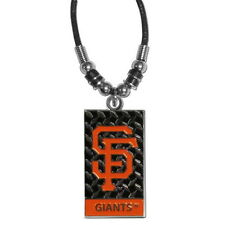 SAN FRANCISCO GIANTS MLB OFFICIALLY LICENSED DIAMOND PLATE ROPE NECKLACE