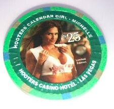 Hooters Casino las Vegas $25 Chip Limited Edition Centerfold Girl Michelle