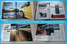 Bmw 323ti Compact e36 literatura paquete - 9 revistas completa