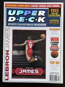2003 Upper Deck Magazine w/ Lebron James Rookie RC 9 Card Sheet MINT