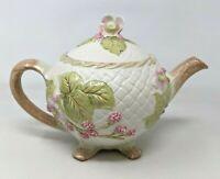 VTG 1988 Franklin Mint Chelsea Morning Hallie Greer Porcelain Floral Teapot TT20