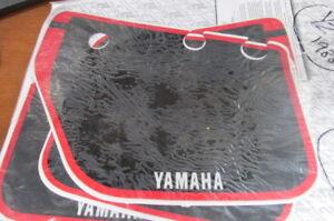 NUMBER PLATES GRAPHICS - YAMAHA YZ125-250-490 1988