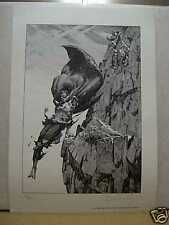 Bernie Wrightson: Frankenstein Monster on Cliff (signed/numbered) (USA)