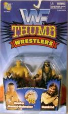 WWF WWE Thumb Wrestlers -Triple HHH & Mankind (Mick Foley) By Jakks (MOC)