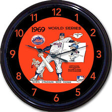 NY Mets 1969 World Series Yearbook Wall Clock Shea Stadium Baseball Citi Park