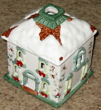 "Multi 6 1/2"" Pfaltzgraff Winterberry Tea Light Village House Candle Holder"