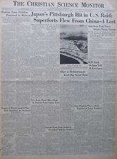 6-1944 WWII June 17 D-DAY INVASION JAPAN HIT SUPERFORTS CHINA BONIN CS MONITOR