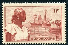 STAMP / TIMBRE COLONIES FRANCAISES / GUADELOUPE N° 197 ** PORT DE BASSE TERRE