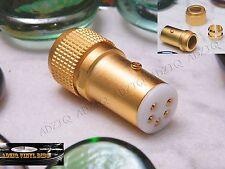 CONNECTEUR DIN (5 Pins Droit) CONTACTS CUIVRE GOLD 24 K BRAS PLATINES VINYLES
