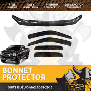 Bonnet Protector Window Visor for Isuzu D-max Dmax 2008-2012 Tinted Guard