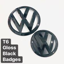 VW Transporter T6 Gloss Black Front & Rear Badges UK Seller